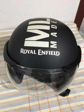 Royal Enfield mat black helmet