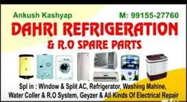 Fridge AC washing machine water purifier RO repair and service