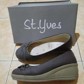 (Preloved) Sepatu Wedges St.Yves uk 37 tinggi 5cm