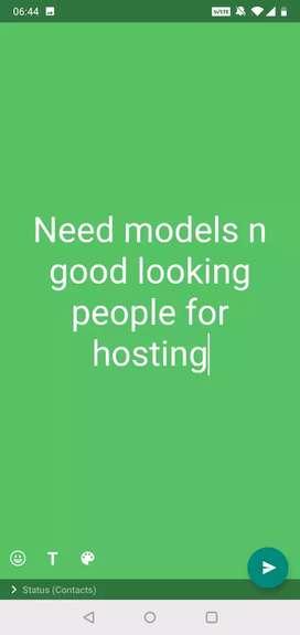 Need female models singer dancer for app hosting