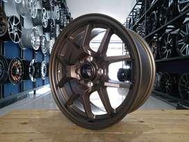 velg import HSR HYURA BOROKO R15 H8X100/114,3 for avanza brio ayla dll