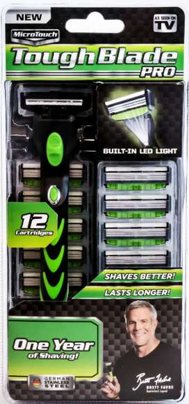 Brand New Micro Touch Toughblade Pro: Lighted Power Razor