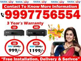 Tata Sky SD/HD Box Cash On Delivery dish tv tatasky