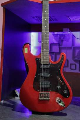Givson Blue Diamond Electric Guitar With Amplifier