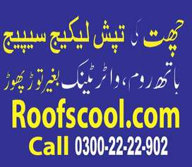 Roof heat and water proofing Expert bathroom/wahroom leakage seapage