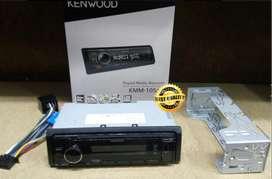 Kenwood KMM-105 Hi-Res Audio Receiver Head Unit Mobil New Model