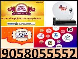Tata Sky & Airtel Tv All India Service 1 Year Free Cod Service Dish tv