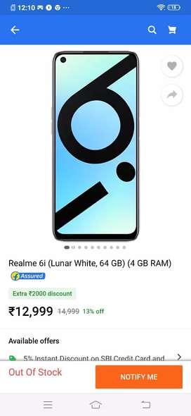 Realme new 6i 4,64gb