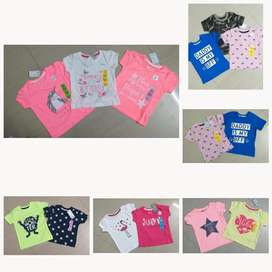 Infant Bonnets Boys tshirt Girls frock export surplus Tiruppur