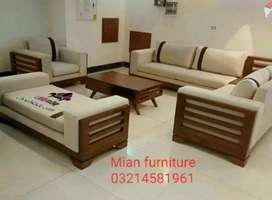 New arrival Six seater sofa set and seaty and Table