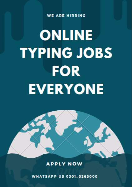 Amazing Job offer of Simple Typing Jobs for part time workers