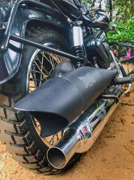 ONE WEEK USED MOTOTORQUE SHARK EXHAUST FOR ROYAL ENFIELD