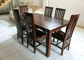 Meja makan jati minimalis kursi makan minimalis kayu jati