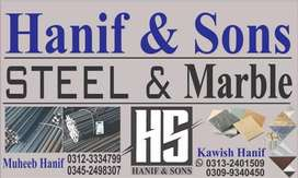 Hanif & son's steel and marbal