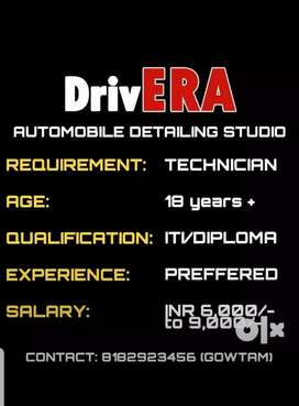 Technician in Automobile Detailing Studio