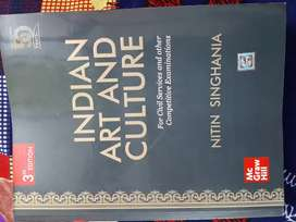 """""""Indian Art and Culture""""(Mc Graw Hill)(3rd Edition)By Nitin Singhania"""