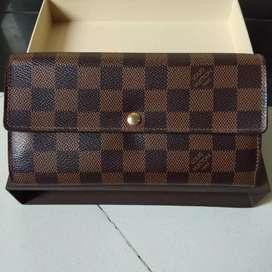Dompet Louis Vuitton Sarah wallet NM2 Damier original
