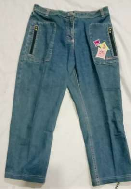 Celana jeans remaja  Perempuan BARBIE  gombrang Usia 12 - 14 tahun