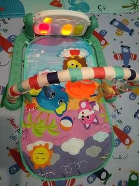 Play mat piano mainan bayi