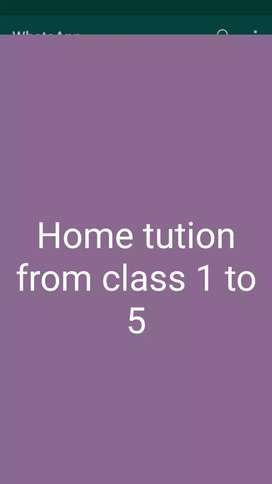 Need students for home tution