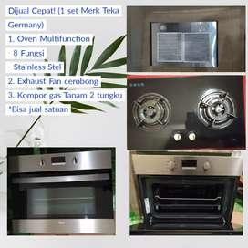 Dijual Cepat 1 set Oven, Kompor dan Exhaust Fan Merk Teka Germany