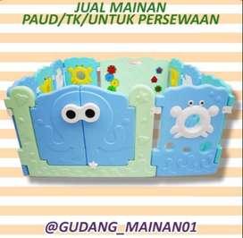 mainan anak playground pagar-pagaran bertema lautan berkualitas murah