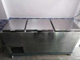 Stainless steel fridge,