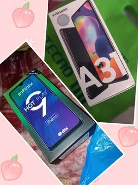 I am selling my Samsung Galaxy a31 and infinix hot 9 play