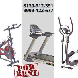 Treadmill, Cross Trainer, and Spinning Bike on Rent in Malviya Nagar