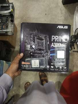 Ryzen 5 2600 plus Asus A320m with one year warrenty available