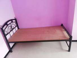 Metal bed(2) plus mattress  for one person