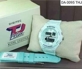 Dogitec white milk dualtime free strap original fullset garansi resmi