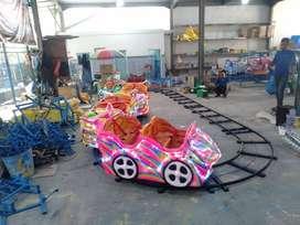 Sedia wahana mainan odong kereta lantai mini coaster RAA