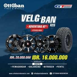 Paket Velg Ring 20 + ban 275 55 R20 Fortuner Hilux Land Cruiser Pajero