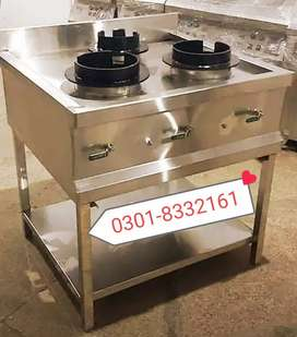 Commercial Chinese stove table 3 burners