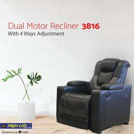 3816 Dual Motor Air Leather Recliner (High Life)
