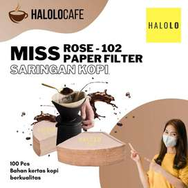 Saringan Kopi Miss Rose Paper Filter 100 Lembar Brown