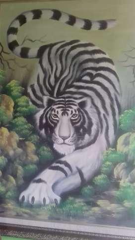 Lukisan Harimau putih