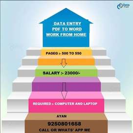 Home Based Data Entry jobs!! need data entry operators