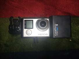 GoPro Hero 4 Silver With 2x Batteries and Original Charger