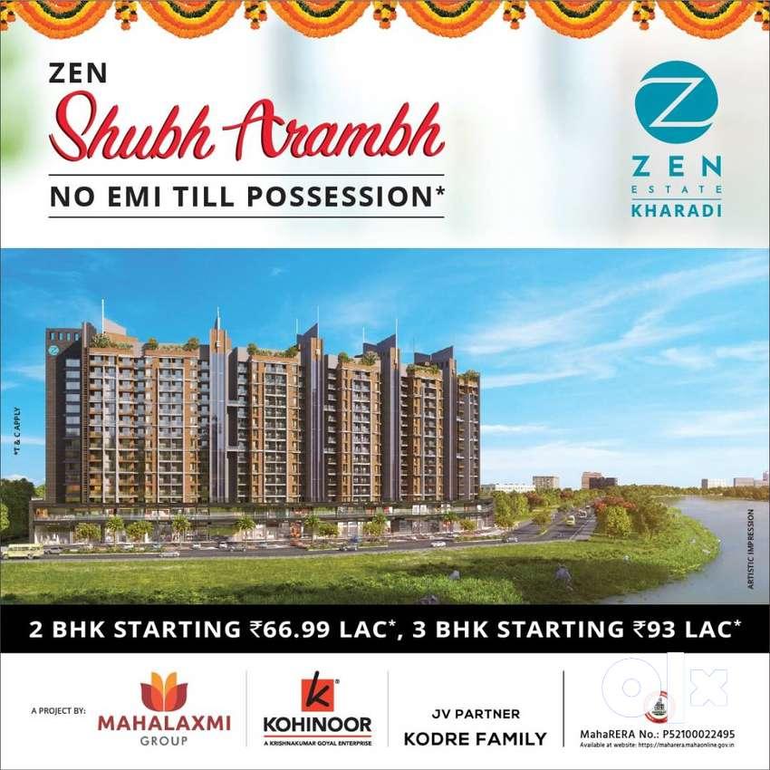 !Ongoing 2 BHK Homes Kharadi Zen Estate, 2 BHK at ₹ 66.99L{ 0