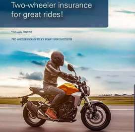 Bike, car all vehicle insurance available