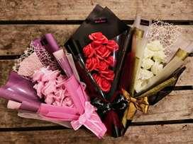 Buket bunga mawar artificial mewah