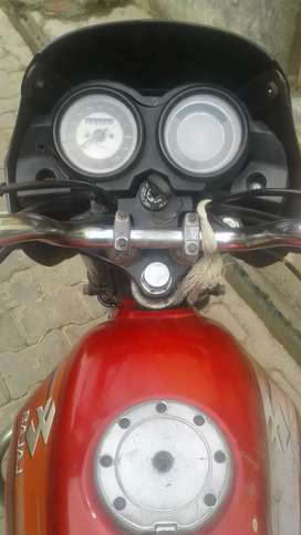 Bike on sale the features of bike in red colour injone conditions very