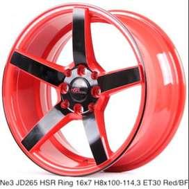 NE3 Velg keren HSR R15X7 H8X100-114,3 ET30 RED/BLACK FACE