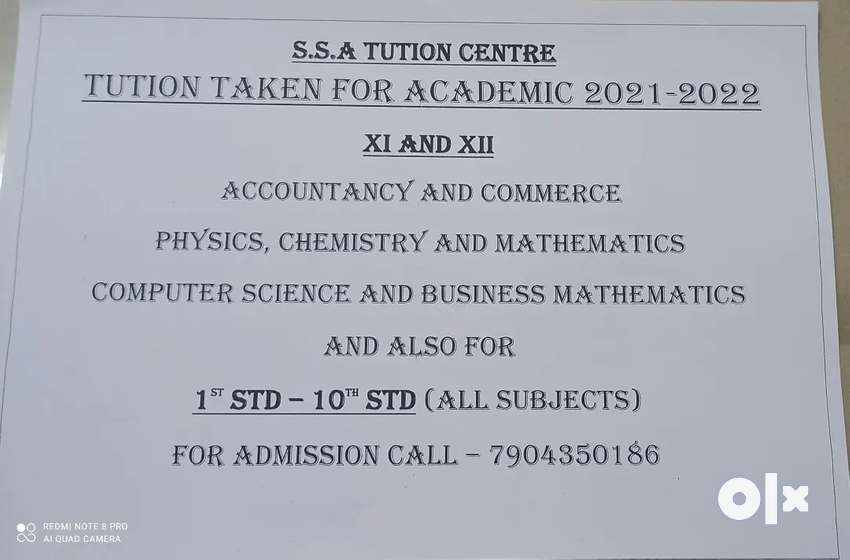 Tution for class 11th and 12th