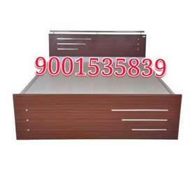 New wooden double shades color full size double bed with storage boxs
