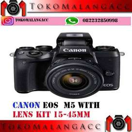 Canon EOS M5 Baru with lensa kit 15 - 45 IS STM