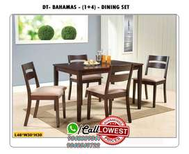 Wholesa Wooden / Glass Dining Table and Dining set 4 / 6 Chairs Seater