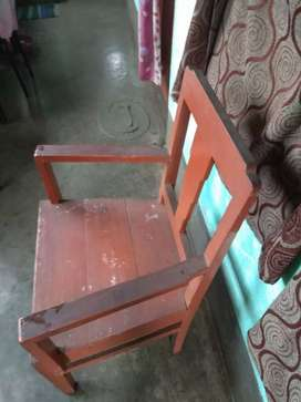 Wooden chair 3 pics